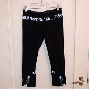 lululemon athletica black cropped leggings